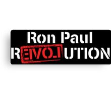 Ron Paul Revolution Love Logo White Canvas Print