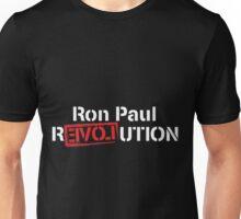 Ron Paul Revolution Love Logo White Unisex T-Shirt
