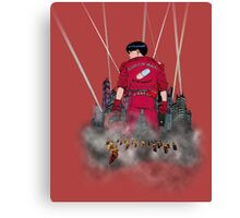 Kaneda in front neo Tokyo Canvas Print