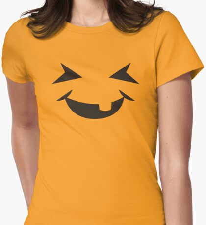 Incredibly cute BABY Jack-o-lantern smiling Womens Fitted T-Shirt