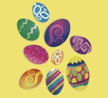 Many Easter eggs  One Piece - Short Sleeve