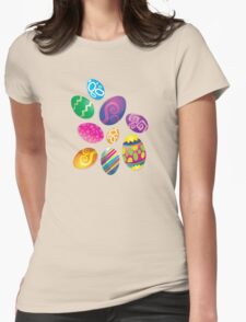 Many Easter eggs  Womens Fitted T-Shirt