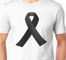 Black Mourning Ribbon Unisex T-Shirt