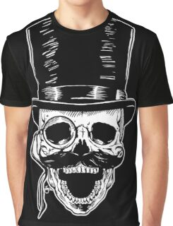 Victorian Skull with Monocle Graphic T-Shirt