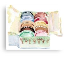 Macarons Box. Canvas Print