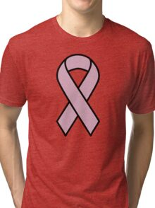 Lavender Ribbon for All Cancers Tri-blend T-Shirt