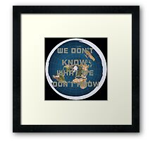 Flat earth what we don't know Framed Print