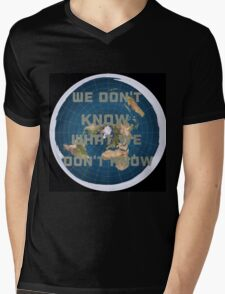 Flat earth what we don't know Mens V-Neck T-Shirt