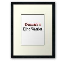 Denmark's Elite Warrior  Framed Print