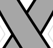 Grey Brain Cancer Ribbon Sticker
