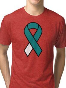 Cervical Cancer Ribbon Tri-blend T-Shirt