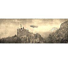 Neuschwanstein Zeppelin! Photographic Print
