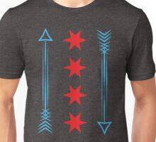 Chicago Flag Arrows Unisex T-Shirt