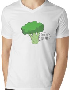 Bad Broccoli Mens V-Neck T-Shirt