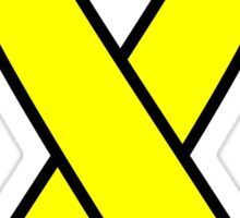 Yellow Support The Troops Ribbon Sticker
