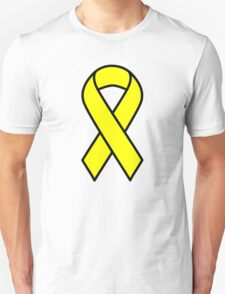 Yellow Support The Troops Ribbon T-Shirt