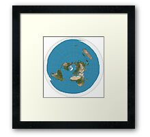 Flat earth time for change Framed Print