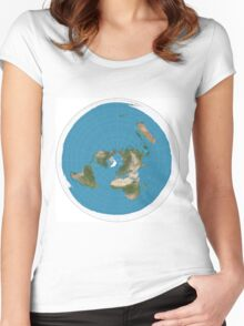 Flat earth time for change Women's Fitted Scoop T-Shirt