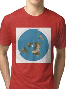 Flat earth time for change Tri-blend T-Shirt