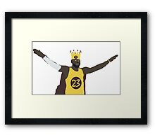 The king, Lebron James Framed Print