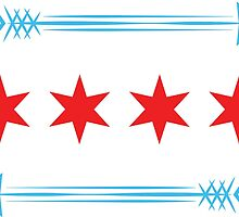 Chicago Flag Arrows - Horizontal by ataglance101