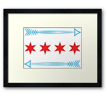 Chicago Flag Arrows - Horizontal Framed Print