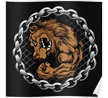 MMA Fighting Bear  Poster
