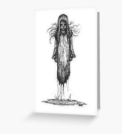 Ghost Girl Greeting Card