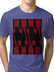 red tulips abstract Tri-blend T-Shirt