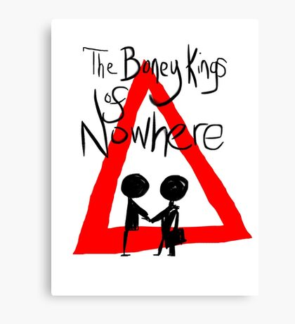 The Boney Kings of Nowhere Red Triangle Canvas Print