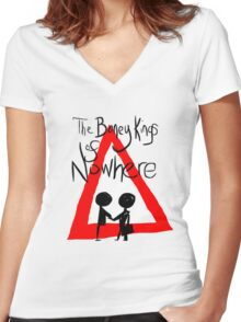 The Boney Kings of Nowhere Red Triangle Women's Fitted V-Neck T-Shirt