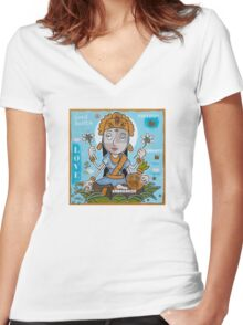 Lakshmi  Women's Fitted V-Neck T-Shirt