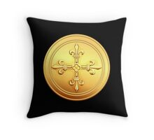 Old French gold coin  Throw Pillow