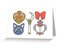 sailor scouts {accesories} Greeting Card