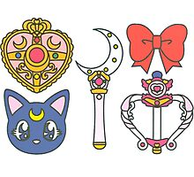 sailor scouts {accesories} Photographic Print