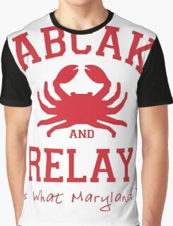 Crabcakes and Relay Graphic T-Shirt