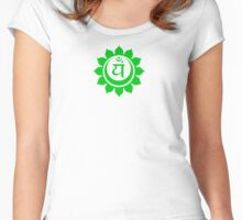 Anahata heart chakra green Women's Fitted Scoop T-Shirt