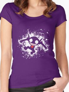 Sableye Splatter Women's Fitted Scoop T-Shirt