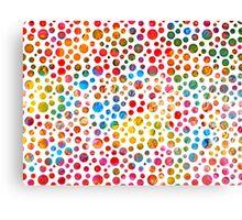 Colored balls pattern design Canvas Print