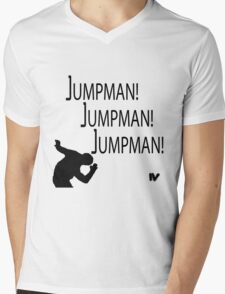 Jumpman! x3 Mens V-Neck T-Shirt