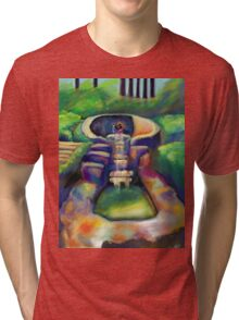 Fountain with Mother and Son Tri-blend T-Shirt