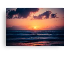 epic sunset Canvas Print
