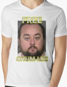 Free Chumlee Mens V-Neck T-Shirt