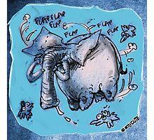 cartoon style flying elephant Photographic Print