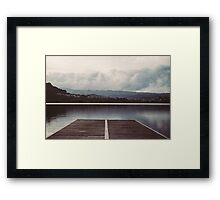 lake dock Framed Print