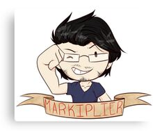 Markiplier Ribbon Canvas Print