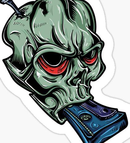 Skull & Cassette Sticker