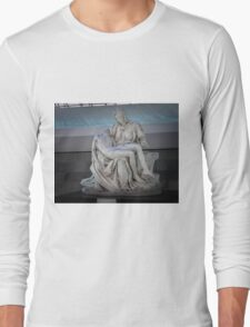 The Pietà in the Cathedral of Brasília Long Sleeve T-Shirt