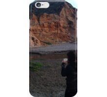 Woman at the Cliffs iPhone Case/Skin