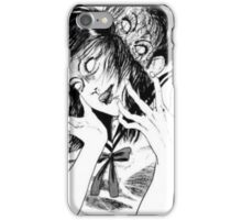 Ito Junji Creepy Manga Girl iPhone Case/Skin
